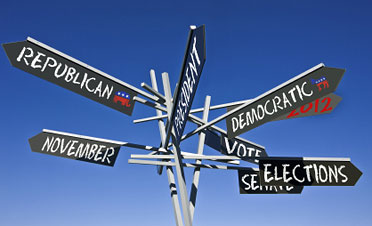 Election 2012 road sign. Courtesy of iStockphoto.