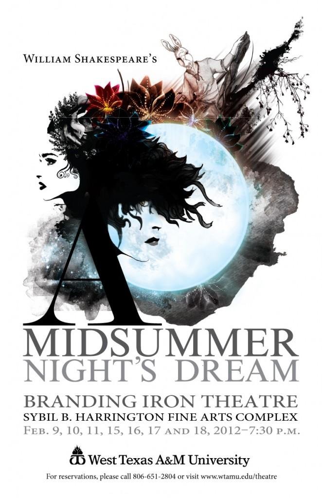 """A Midsummer's Nights Dream"", performed at the Branding Iron Theater. Photo courtesy of the WTAMU web site."