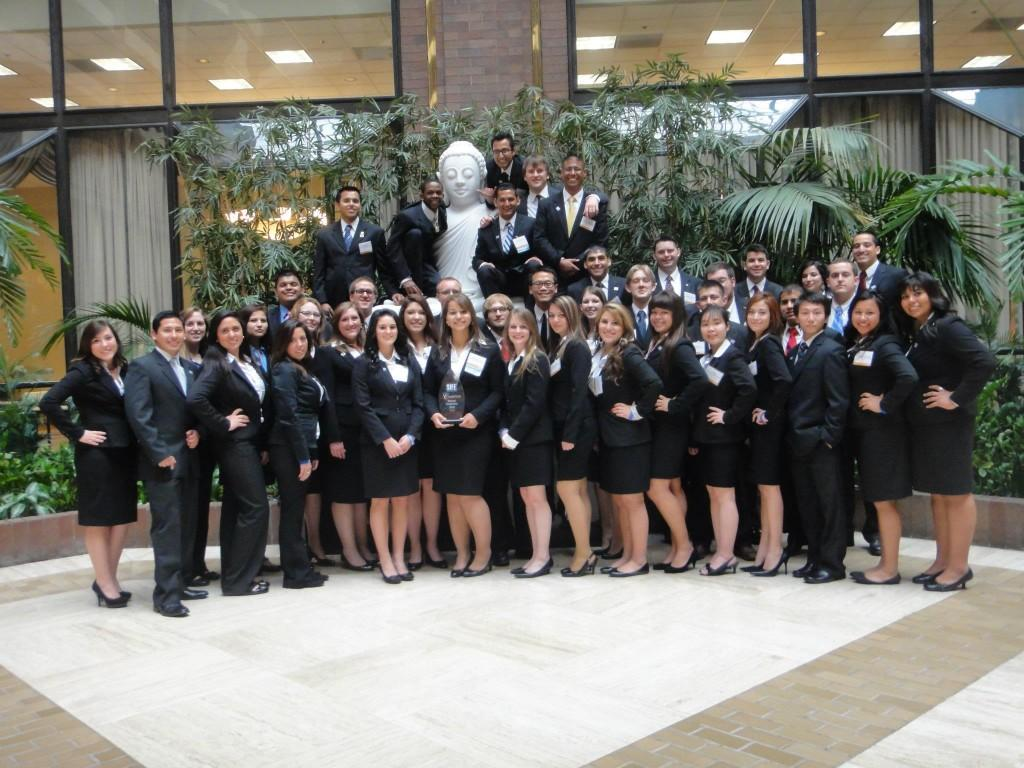 SIFE team after winning regionals for the 18th year. Photo courtesy of SIFE.