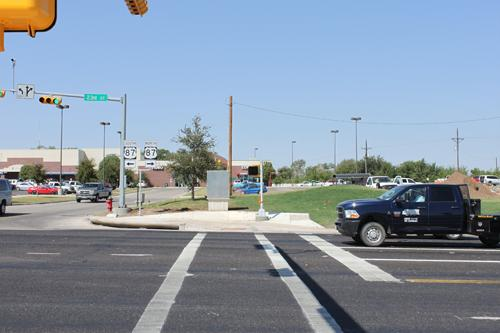 Canyon crosswalk at 4th St. and Russell Long Boulevard. Photo by Katelyn Garrity.
