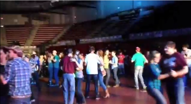Screen shot of the Homecoming 2012 Concert Video.