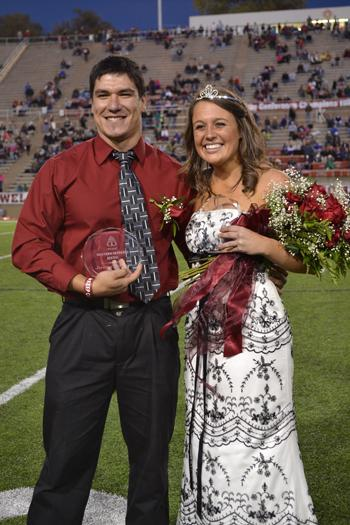 Jeremy Tarango and Allison Ashby were crowned Homecoming King and Queen on Oct. 13. Photo by Alex Montoya.