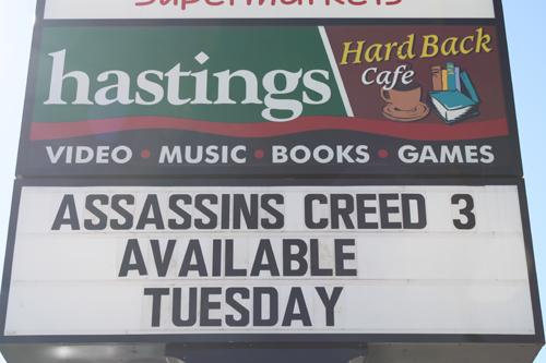 Hastings in Canyon advertising Assassins Creed III. Photo by Hunter Fithen.