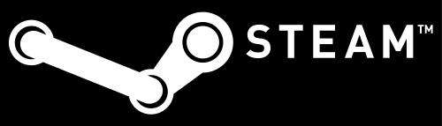 Steam official logo. Courtesy of the Steam web site.