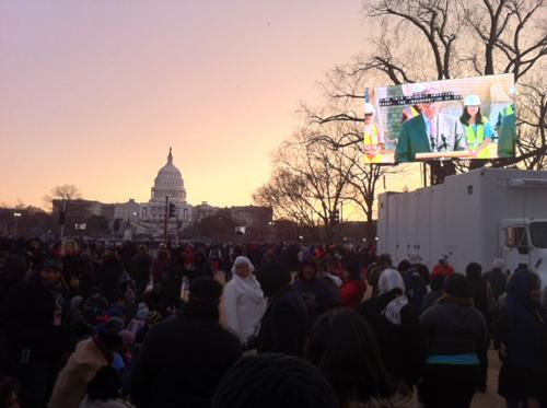 Sunset at the Presidential Inauguration. Photo by Brittany Castillo.