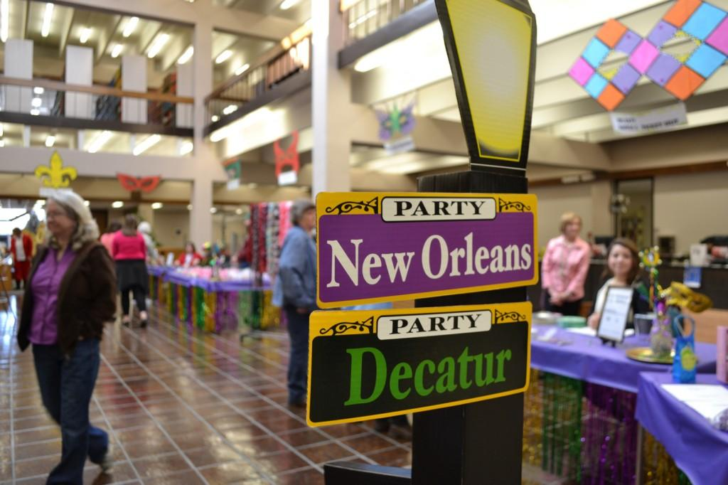 The Cornette Library hosted Books 'N Boots Bazaar Mardi Gras in the library atrium. Photo by Alex Montoya.