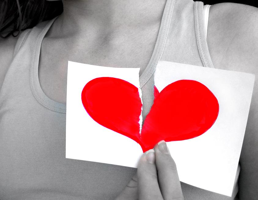 Broken heart. Photo courtesy of Stock Exchange.