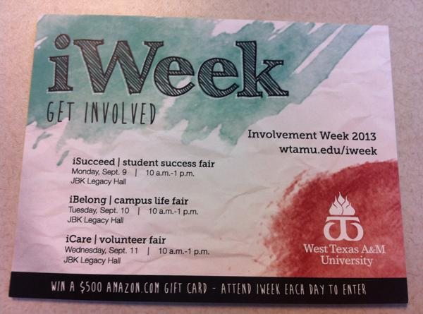 iWeek flyer: Photo Courtesy of Tyler Anderson.