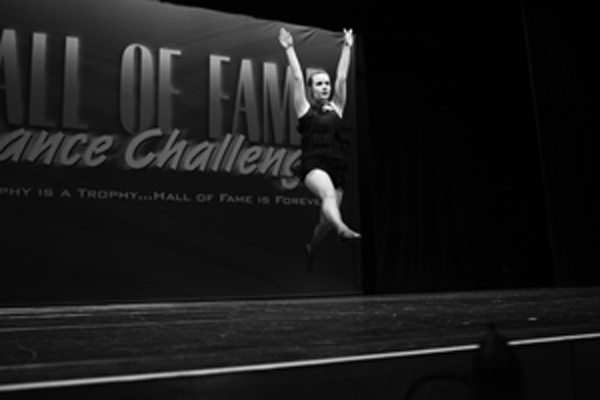 "Photo courtesy of Jenessa Hauschildt. Soloist Rachel Clark performs her solo ""Crazy in Love."""