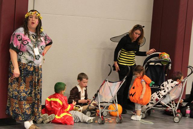 Parents and children alike dressed up and enjoyed the fun atmosphere at the Fall Carnival. Photo by Courtney Inman.