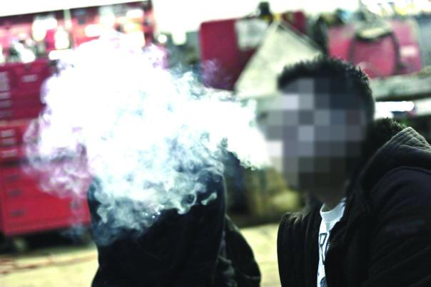 Some people smoke marijuana recreationally. Photo by Stephen Ingle (altered by staff to protect subject's anonymity).