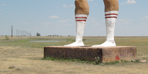 The legs of Ozymandias. Courtesy of LingMuse on Flickr.
