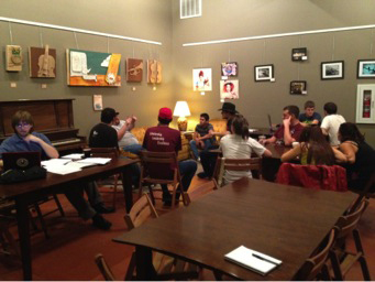 The Alliance discusses fundraising ideas. Photo by Alex Gardner.