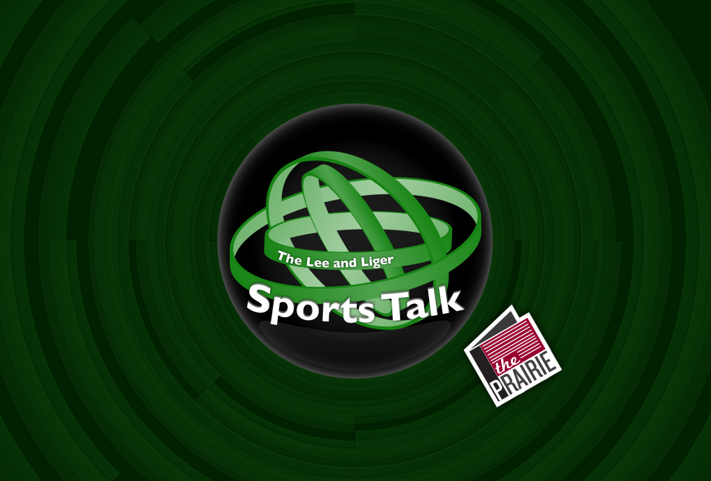 The Lee & Sports Talk Logo (Web Version). Art by Chris Brockman.