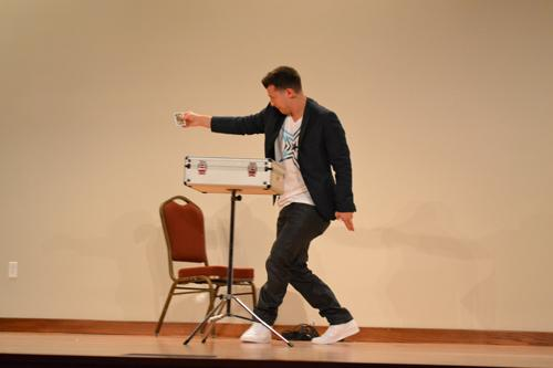 Magician Matt Franco performs at University Formal. Photo by Alex Montoya.