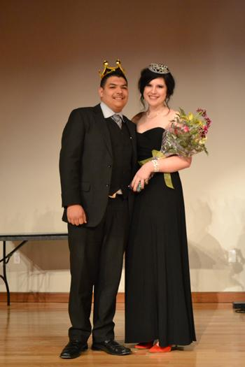 Sophomore Ixavier Hernandez and Sophomore Sarah Horn are Formal Prince and Princess. Photo by Alex Montoya.