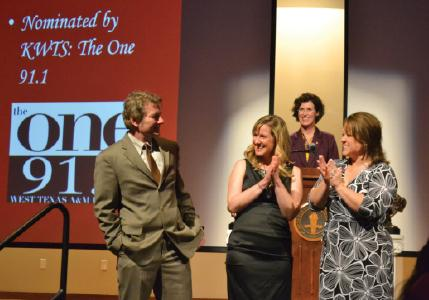 Director of Broadcast Engineering Randy Ray wins the Advisor of the Year award. Photo by Alex Montoya.