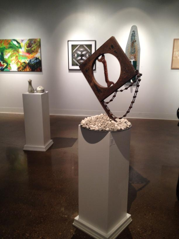 A sculpture on display in Mary Moody Northen Hall. Photo by Sterling Rusher.
