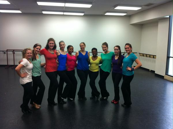 Mindy Copeland's choreography class. Photo by Tyler Anderson.