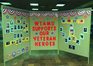 Bulletin Board supporting Veterans.