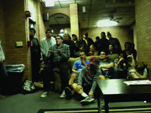 Cross and Jones residents gather at the Q & A meeting.