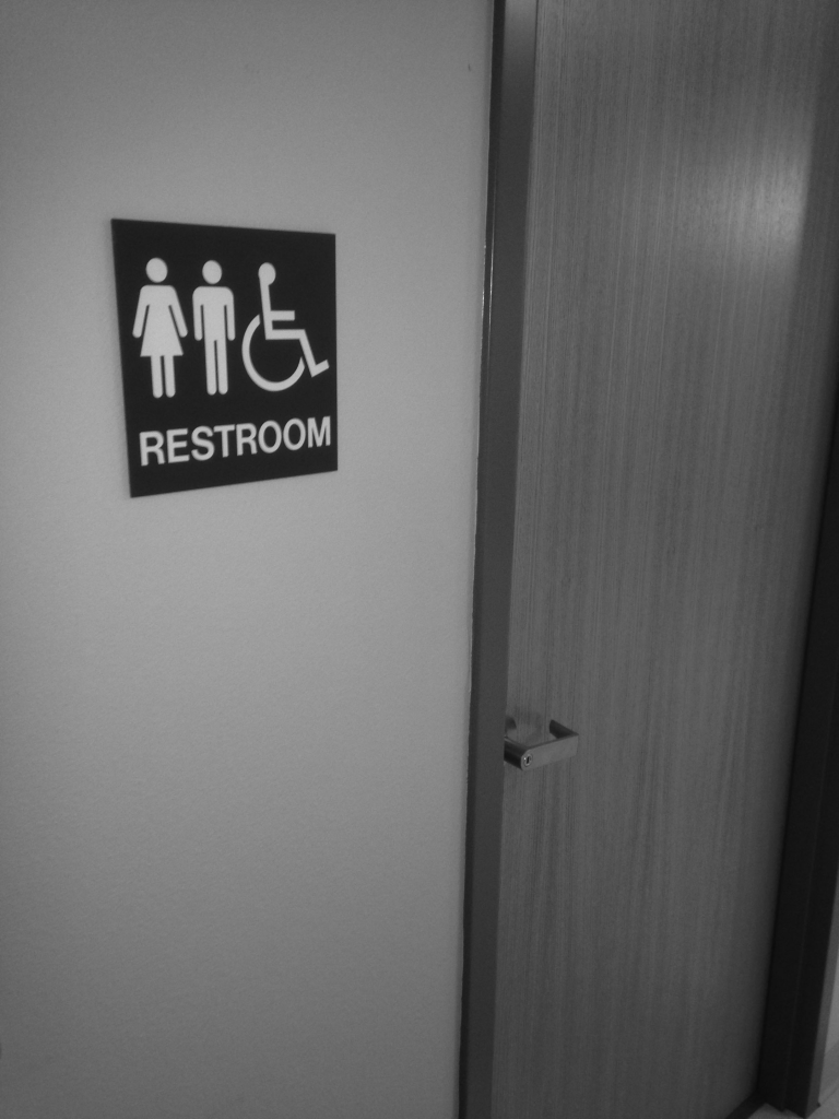 WT's only family restroom is located on the JBK's first floor