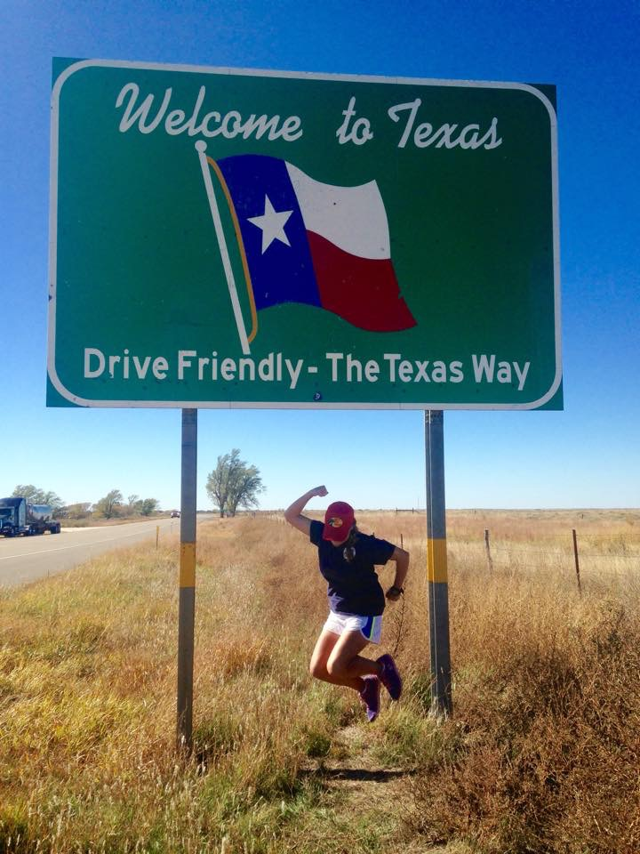 Schnatz crosses the Texas border and continues on toward California.