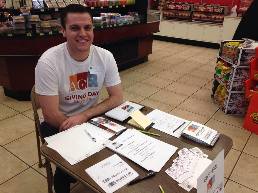 Kase Wilbanks worked at the ACE Giving Day event on Nov. 20, 2014.